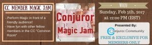 CC Member Magic Jam