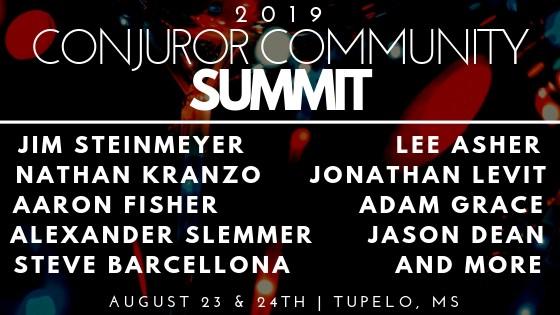 2019 Conjuror Community Summit (August 23-24th)