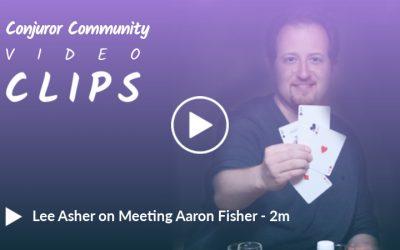How Lee Asher met Aaron Fisher
